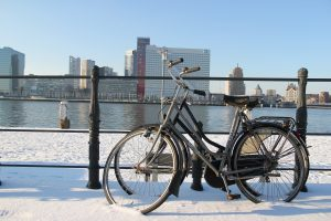 cycle-in-snow
